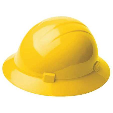 ERB SAFETY Hard Hat,4 pt. Ratchet,Ylw 19222