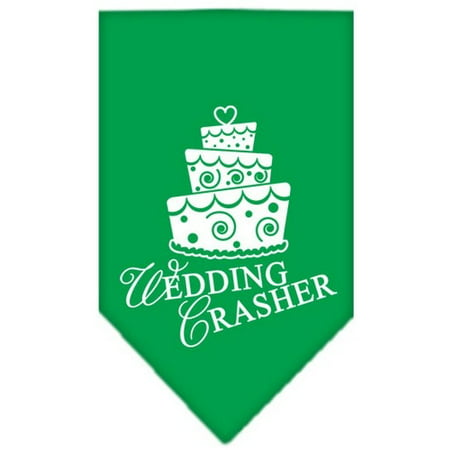 Wedding Crasher Screen Print Bandana Emerald Green Large - Green Bandanna