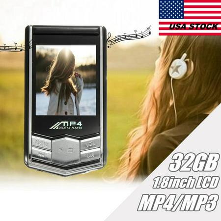 My Way 32Gb Slim 1 8  Lcd Screen Digital Mp3 Mp4 Music Video Media Player Fm Radio  Earphone Black Color
