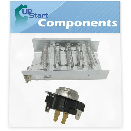279838 Dryer Heating Element & 3387134 Cycling Thermostat Kit Replacement for Maytag HED4400TQ0 Dryer - Compatible with 279838 and 3387134 Heater Element and Thermostat Combo Pack - image 1 de 4