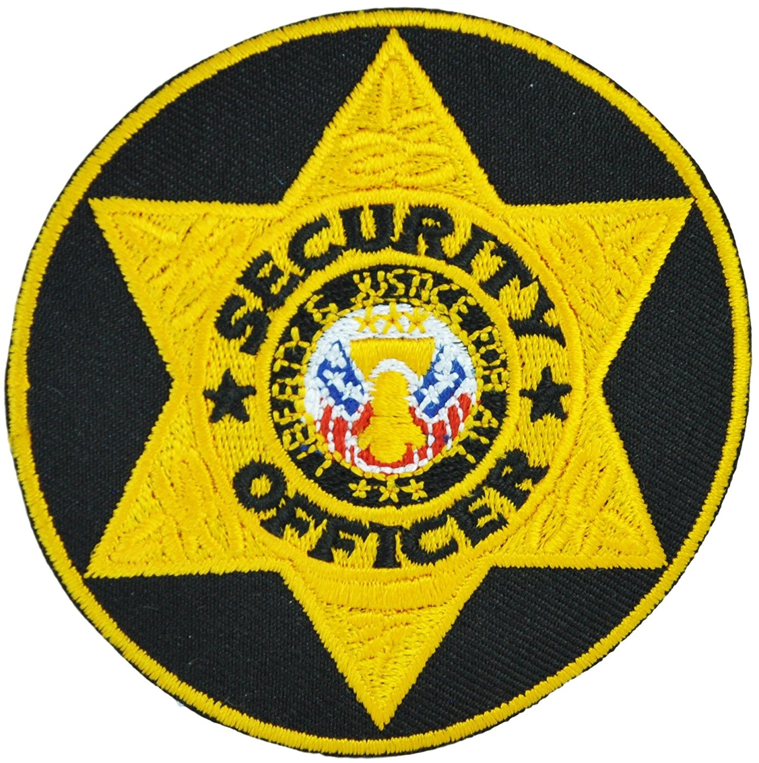 Tactical 365 Operation First Response Pair of Round Security Officer Emblem Patch - Gold