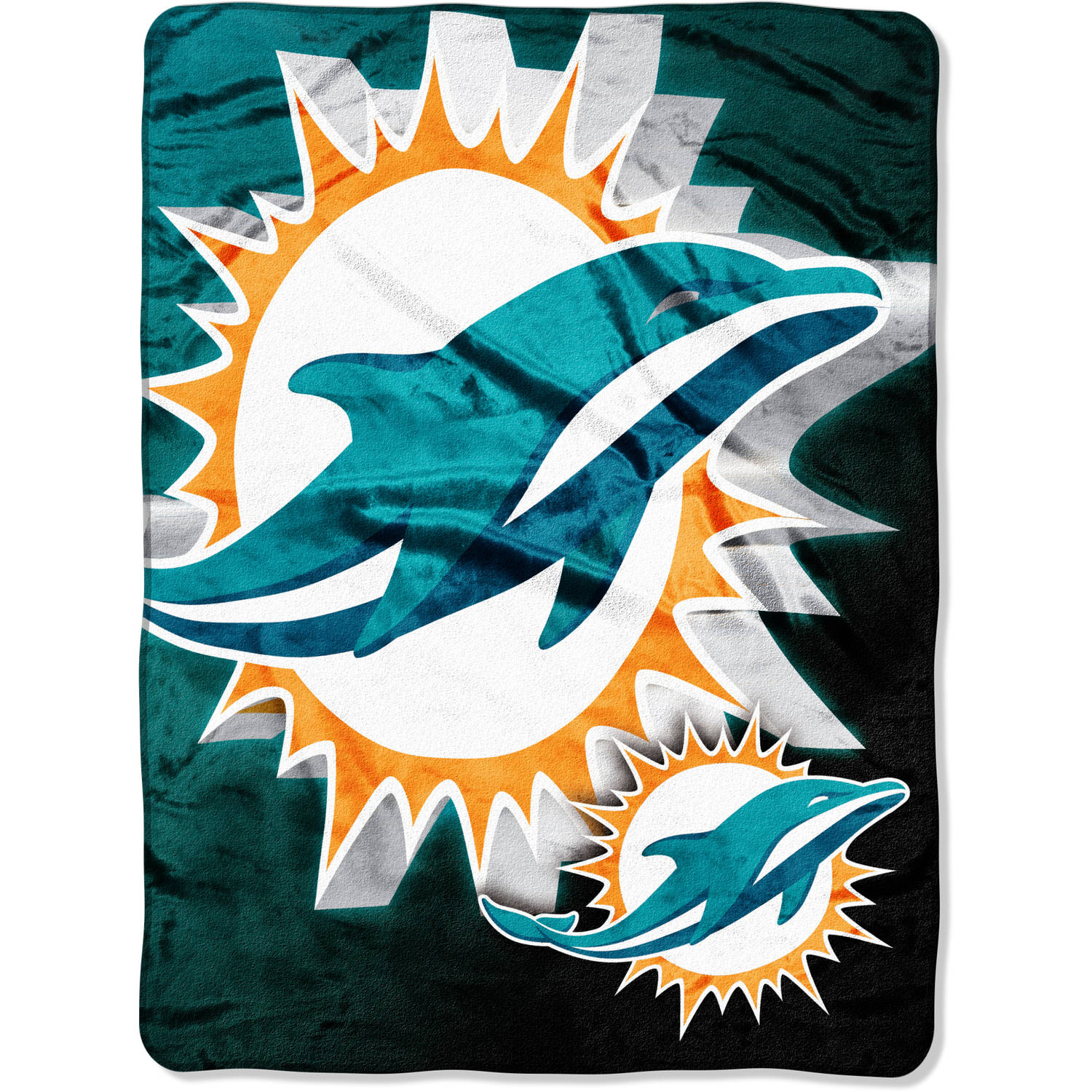 "NFL Miami Dolphins 60"" x 80"" Oversized Micro Raschel Throw"