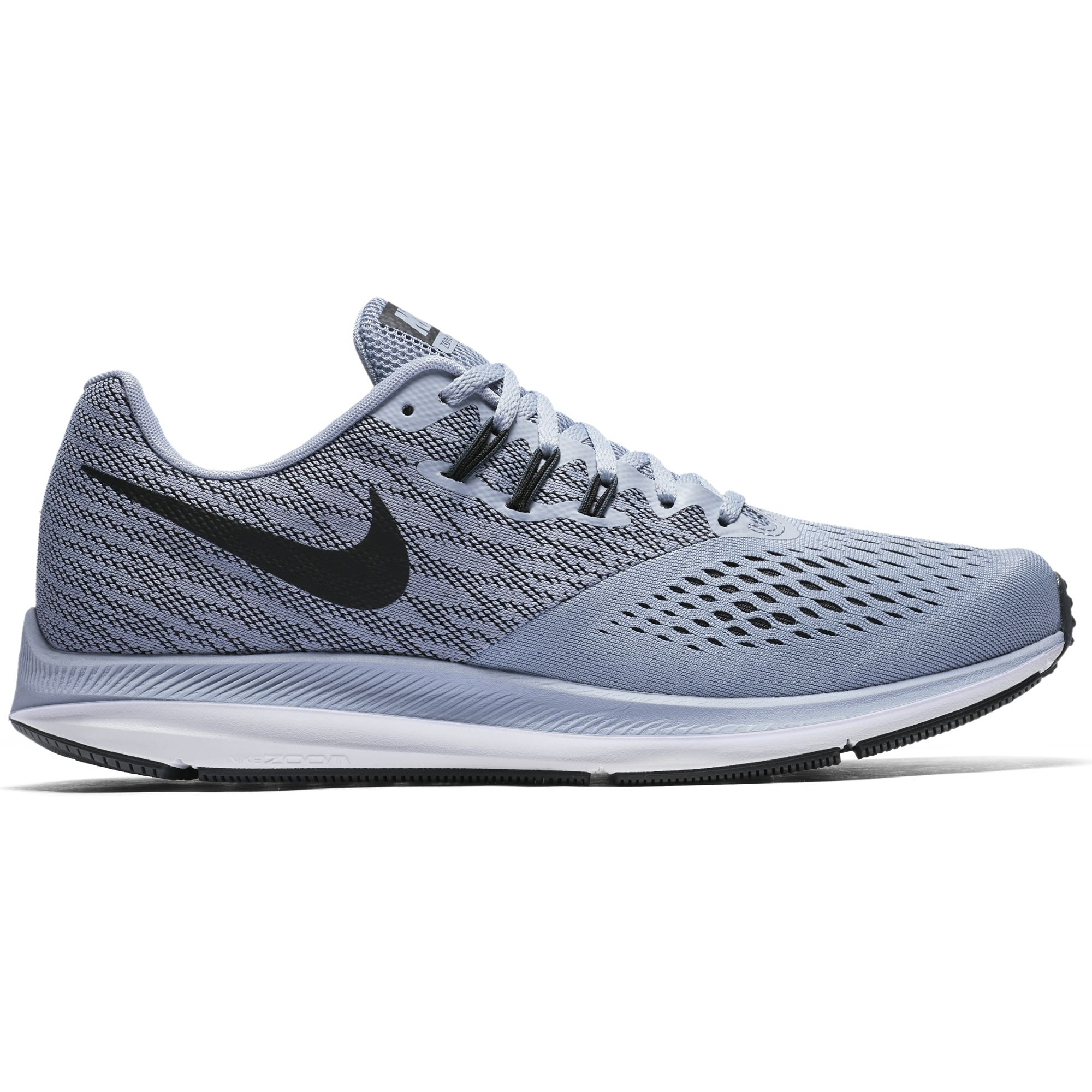 Nike Men's Air Zoom Winflo 4 Running Shoe Glacier Grey/ Black Size 11.5