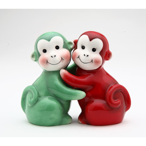 Cosmos Gifts Monkey Salt and Pepper Set