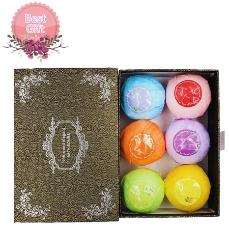 Bath Bombs Gift Sets Of 6 Organic And Natural Bomb Lush Fizzy Spa