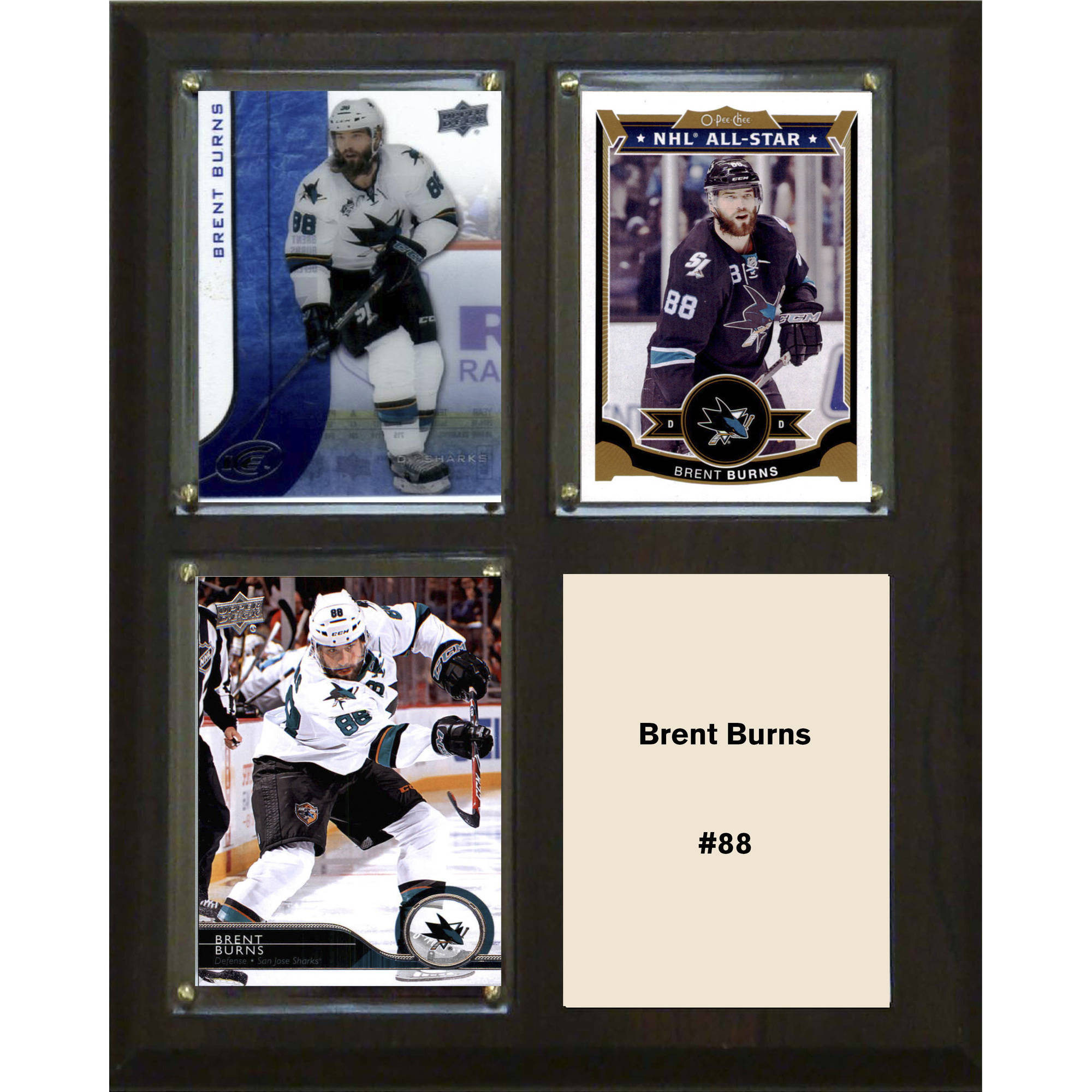 "C & I Collectables NHL 8"" x 10"" Brent Burns San Jose Sharks 3-Card Plaque"