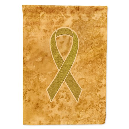 Gold Ribbon for Childhood Cancers Awareness Flag Canvas House Size