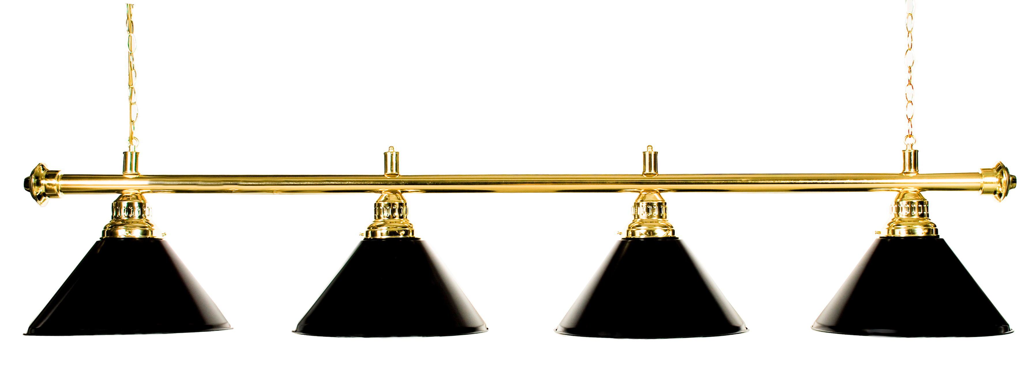 "72"" Pool Table Light Pool Table Light With Metal Black Shades for 9' Table by"