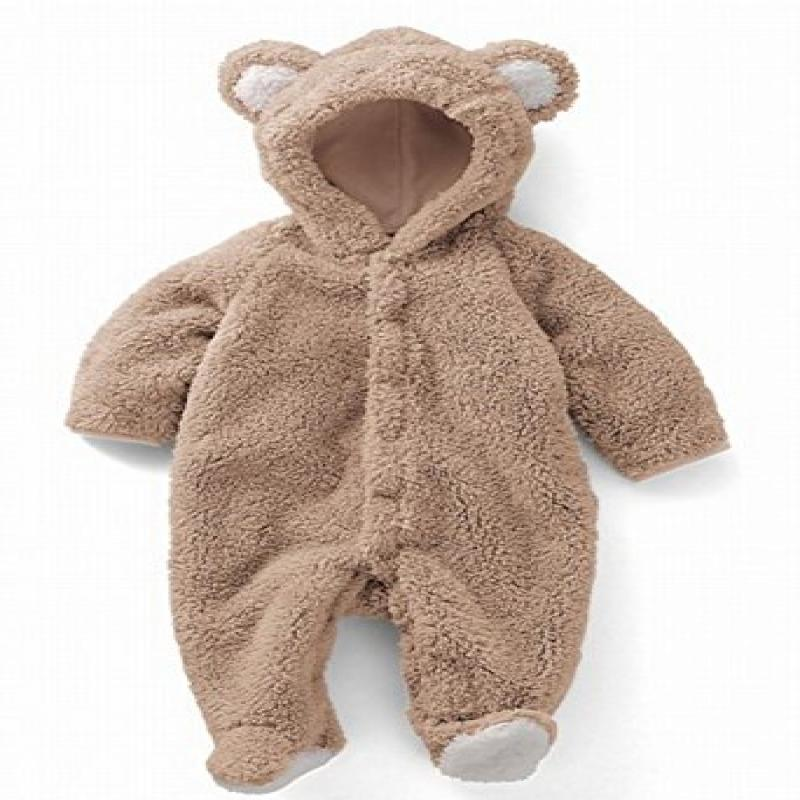 Newborn Baby Boy Clothing Fleece Winter Girl Rabbit Romper Infant