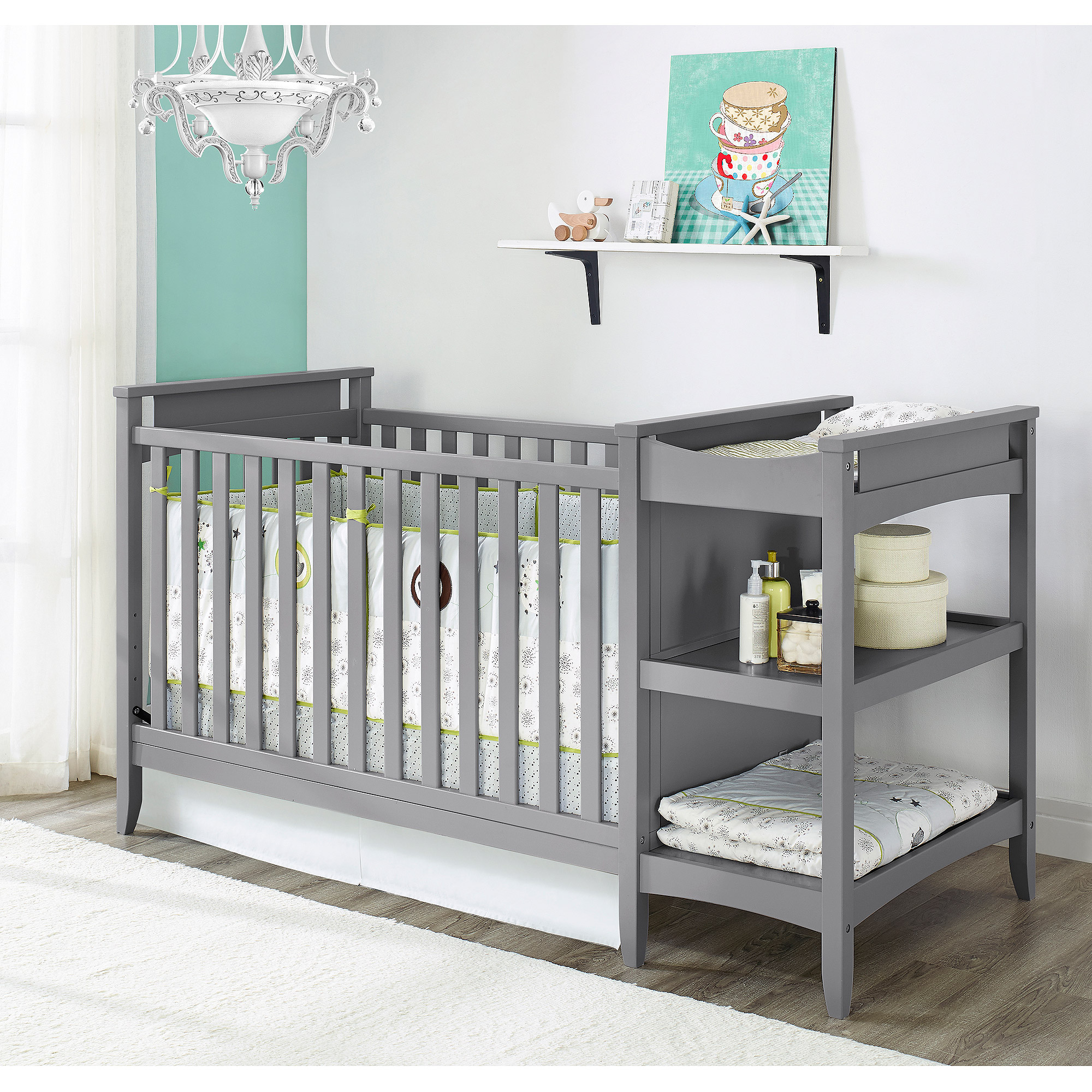 baby crib mattress walmart sealy ortho rest crib mattress  - baby relax emma in crib n changer combo gray