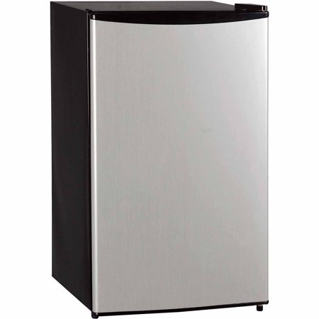 Haier Compact Refrigerator - Midea 3.3 Cu Ft Compact Refrigerator WHS-121LSS1, Stainless Steel