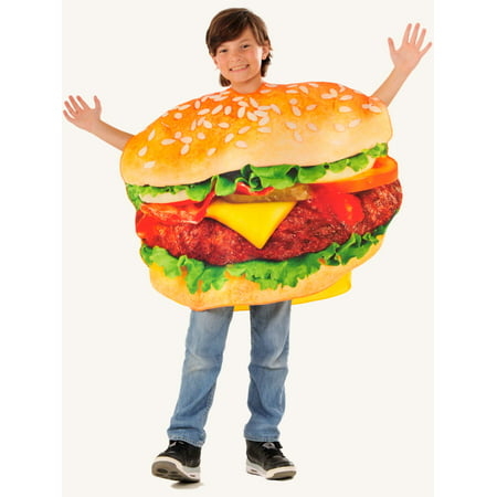 Photo Real Children's Cheeseburger Costume for Kids - Size 8-10](Cheese Burger Costume)