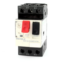 3 Phase DZX7-25 ON/OFF Button Starting NO+NC Motor Circuit Breaker 9-14A