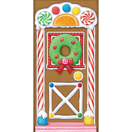 Gingerbread House Door Cover - Creative Halloween Door Designs