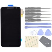 Cell Phones Replacement Parts for Motorola Moto G4 XT1622 XT1625 Complete Display Touch Digitizer Screen [NO Screen Frame](Black)