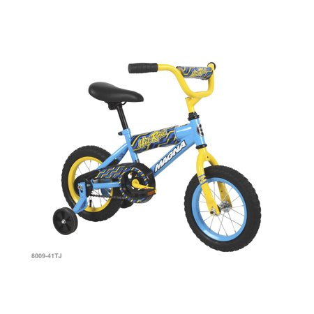 """12"""" Magna Boys Hot Rod Bike with handlebar pad and removable training wheels"""