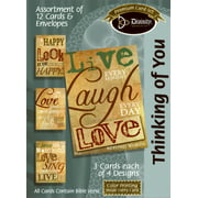 Card-Boxed-Thinking Of You-Live/Laugh/Love (Box Of 12)