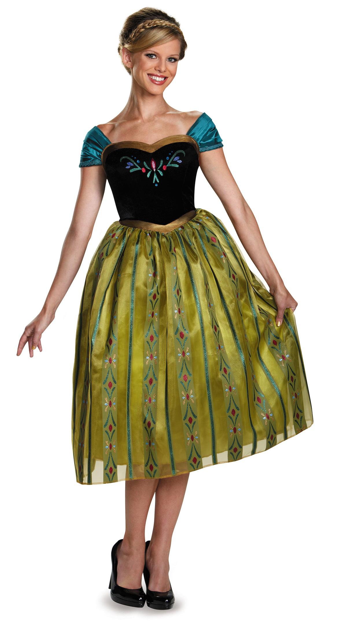 Frozen Anna Coronation Deluxe Womenu0027s Adult Halloween Costume