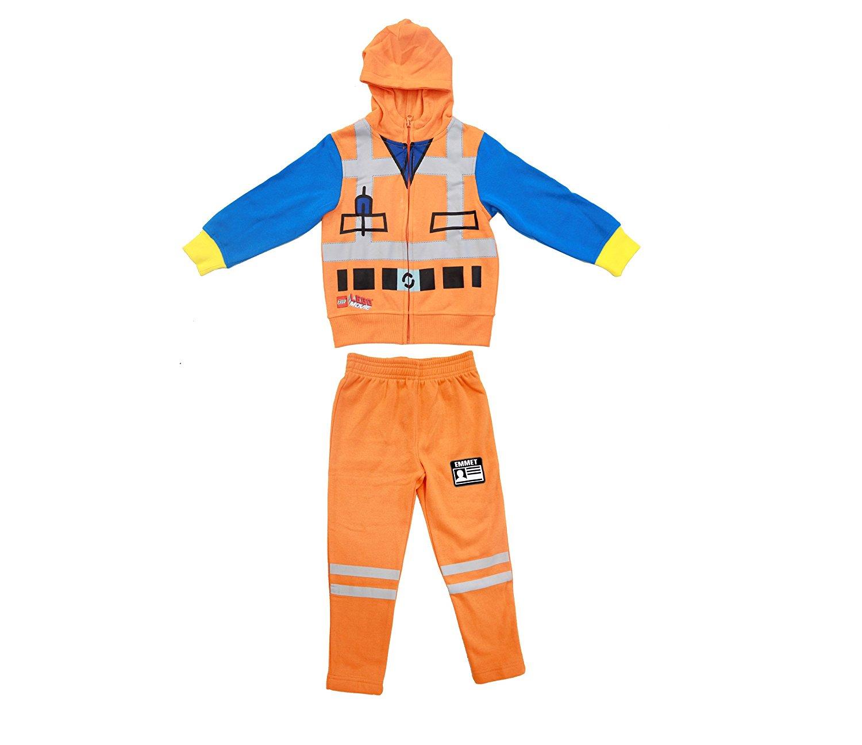 Lego Movie Emmet Orange Boys Two-Piece Zip-Up Costume Hoodie u0026 Sweatpants Set - Walmart.com  sc 1 st  Walmart & Lego Movie Emmet Orange Boys Two-Piece Zip-Up Costume Hoodie ...