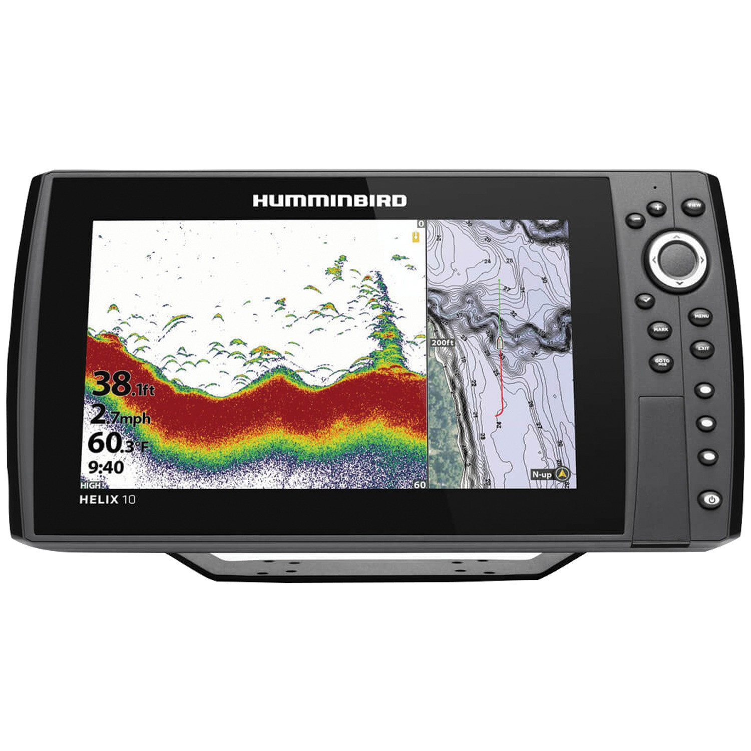 "Humminbird 410870-1 HELIX 10 CHIRP Sonar G3N Dual Spectrum Combo Fishfinder/GPS/Chartplotter with 10.1"" Display"