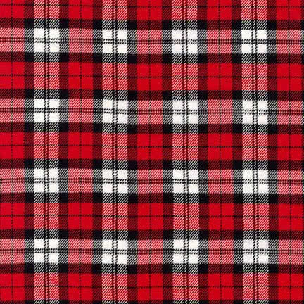 Robert Kaufman Mammoth Flannel Plaids Red