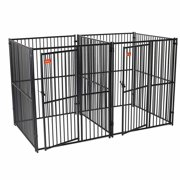 Lucky Dog European Style 5` x 5` 2-Run Kennel with Common Wall