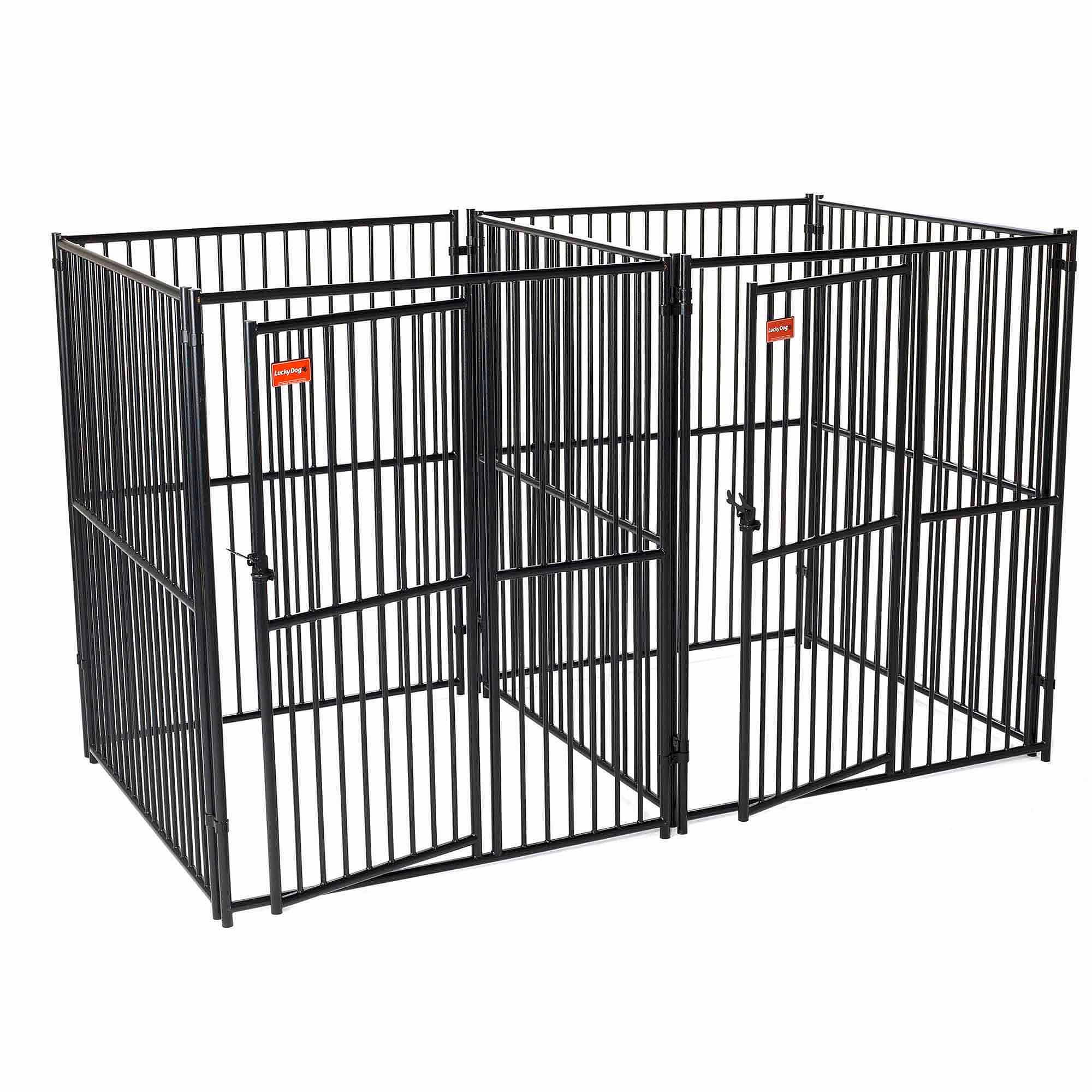 Lucky Dog European Style 5' x 5' 2-Run Kennel with Common Wall