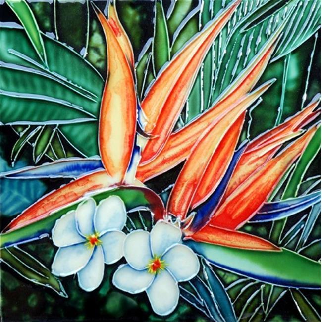 En Vogue B-271 Bird of Paradise - Decorative Ceramic Art Tile - 8 inch x 8 inch