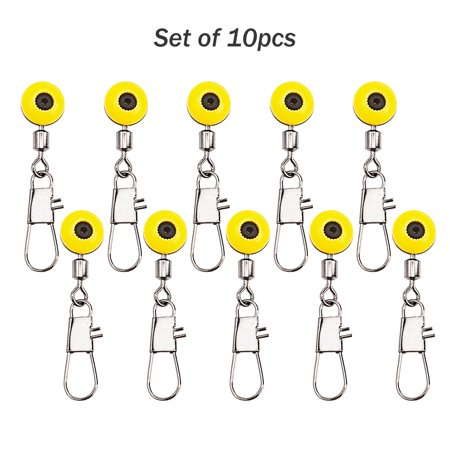 10Pcs Fishing Space Beans Rolling Swivel Float Connectors Running Beads Snap Links Swivels Fishing Accessories