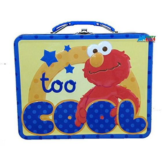 d34f860fc716 Sesame Street Too Cool Elmo Tin Lunch Box - Walmart.com