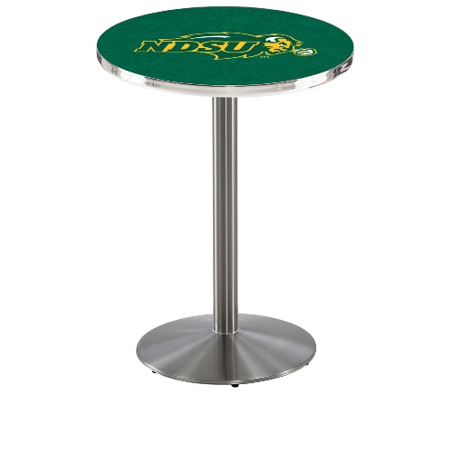 NCAA Pub Table by Holland Bar Stool, Stainless Green NDSU, 36'' L214 by Holland Bar Stool Co