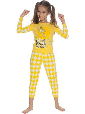 Intimo Big Girls Power Ranger Yellow Ranger 2 Piece Pajama Set