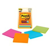"Post-it Super Sticky Notes 3"" x 3"",Rio de Janeiro Collection, 3 Pads"