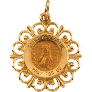 14k yellow gold round st peregrine pendant medal 185 15 grams 14k yellow gold round st peregrine pendant medal 185 15 grams mozeypictures Gallery