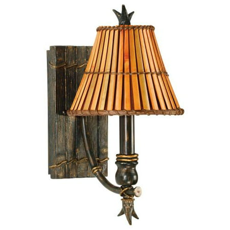 Kenroy Home Kwai 1-Light Wall Sconce, Bronze (Kenroy Wood Sconce)