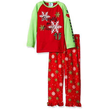 Girls Christmas Pajamas Naughty or Nice 24 months
