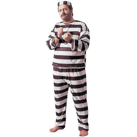 Convict Deluxe Plus Size Costume