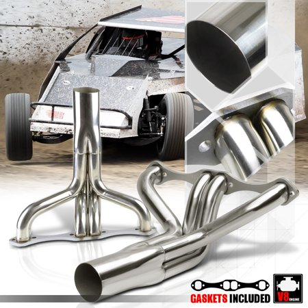 - Stainless Steel Exhaust Header Manifold for Chevy Small Block IMCA Circle SBC V8