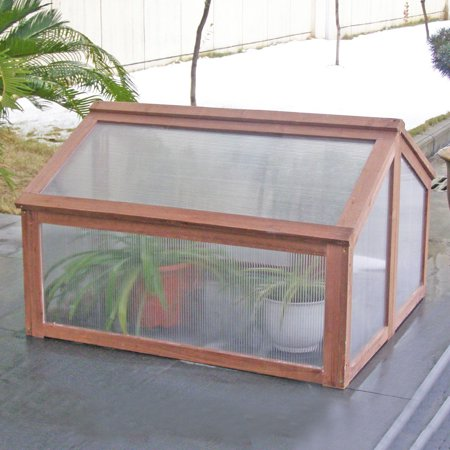 Costway Double Box Garden Wooden Green House Cold Frame Raised ...