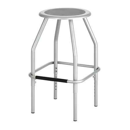 Lot of 12 Industrial Seating 250 lbs Weight Diesel Adjustable Height Silver Stool-6666SL