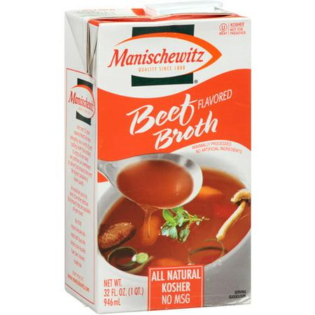 - Manischewitz Beef Flavored Broth, 32 fl oz, (Pack of 12)