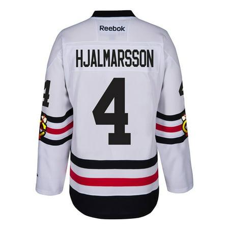 Niklas Hjalmarsson Chicago Blackhawks NHL Reebok White 2017 Official Winter Classic Premier Jersey For Men