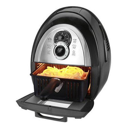 Kalorik Airfryer with Dual Layer Rack 3.2 Qt - Black *Refurbished*