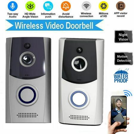 NEW Wireless WiFi Video Doorbell Smart Doorbell Door Ring Intercom Security Camera Bell Two-way Talk Night Vision