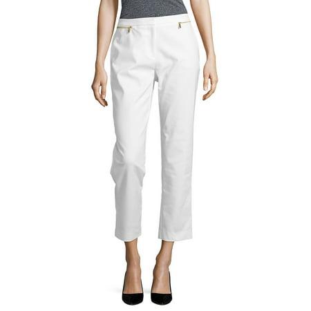 Front Zipper Ankle Pants (Calvin Klein Jeans Women Pants)