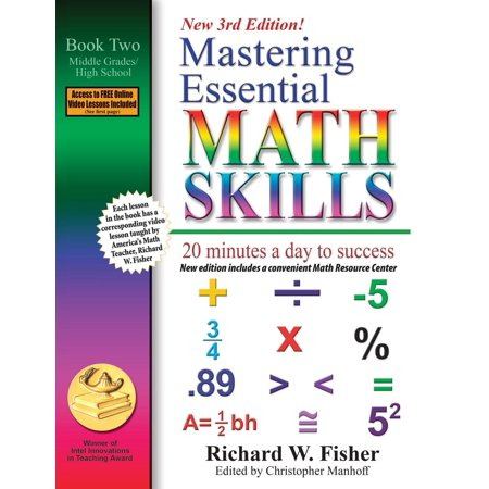 Mastering Essential Math Skills, Book 1 : Middle Grades/High School, 3rd Edition: 20 Minutes a Day to Success
