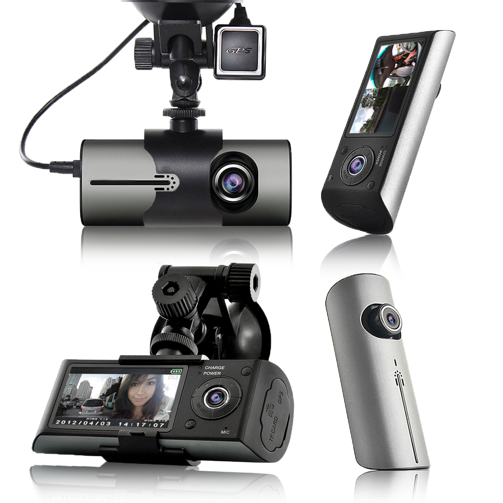 "Indigi Dash Cam DVR (2.7"" LCD + GPS Mod & Google Maps Review + Dual Lens (Front & In-Cab) + Motion detect)"