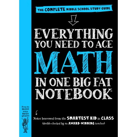 Big Fat Notebooks  Everything You Need To Ace Math In One Big Fat Notebook  The Complete Middle School Study Guide  Paperback