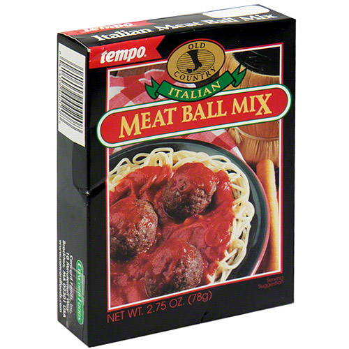 Tempo Italian Meatball Mix, 2.75 oz (Pack of 12)
