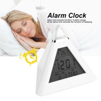 HURRISE LED Color Changing Digital LCD Alarm Clock Thermometer Night Light Desktop Table Clocks